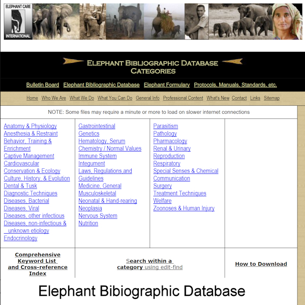 Elephant Bibliographic Database 600x600